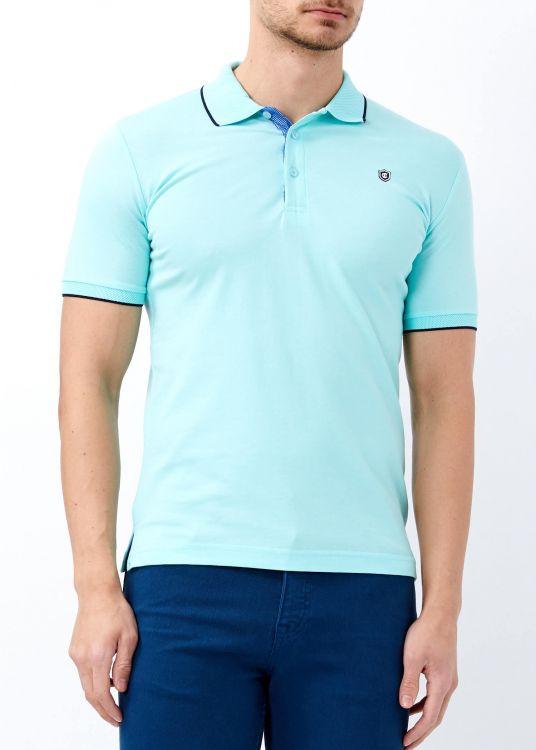 Erkek Aqua Yeşil Düz Polo Yaka Tişört