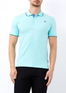 ADZE - Yeşil Erkek Basic Slim Fit Polo Yaka Tişört