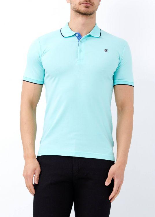 Yeşil Erkek Basic Slim Fit Polo Yaka Tişört