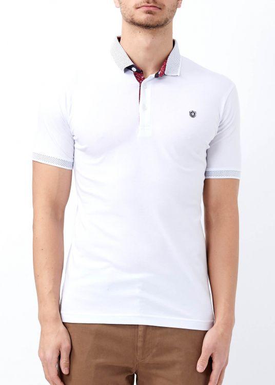 Erkek Beyaz Düz Polo Yaka Tişört