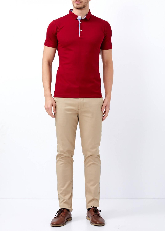 3217a94e Men's Burgundy Basic Slim Fit Polo T-Shirt   Basic Plain Polo T ...