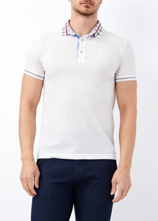 Erkek Beyaz Polo Yaka Slim Fit Tişört