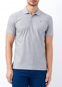 ADZE - Erkek Gri Basic Pamuk Polo Yaka Tişört