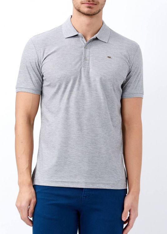 Erkek Gri Basic Pamuk Polo Yaka Tişört