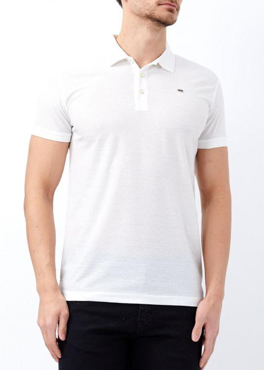 Erkek Beyaz Basic Pamuk Polo Yaka Tişört