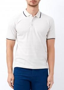 ADZE - Erkek Taş Çizgili Polo Yaka Tişört