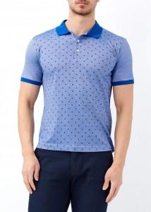 ADZE - Saks Erkek Yaprak Desenli Polo Yaka Tişört