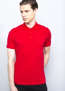 ADZE - Red Men's Basic Polo Shirt