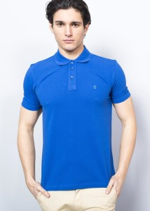 ADZE - Sax Blue Men's Pique Polo Shirt