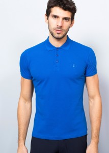 ADZE - Indigo Men's Basic Pique Polo Shirt