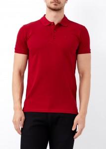 ADZE - Erkek Bordo Düz Slim Fit Polo Yaka Tişört