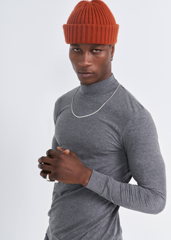 Toptan Erkek Antrasit Yarım Balıkçı Yaka Uzun Kol Sweatshirt
