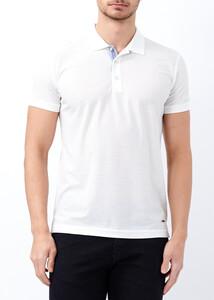 ADZE TOPTAN - Toptan Erkek Beyaz Basic Slim Fit Polo Yaka Tişört