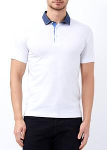 ADZE TOPTAN - Toptan Erkek Beyaz Fit Basic Düz Polo Yaka Tişört