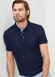 ADZE TOPTAN - Toptan Erkek Lacivert Düğmeli Polo Yaka T-shirt