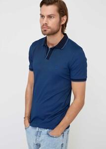 ADZE TOPTAN - Toptan Erkek Lacivert Indıgo Spor Polo Yaka T-shirt