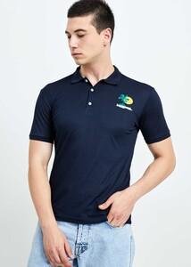 ADZE TOPTAN - Toptan Erkek Lacivert Nakış İşlemeli Polo T-shirt