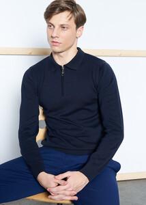 Toptan Erkek Lacivert Polo Yaka Basic Kazak