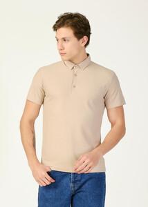 ADZE TOPTAN - Toptan Erkek Safari Desenli Polo Yaka Battal T-shirt