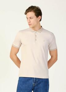 ADZE TOPTAN - Toptan Erkek Safari Polo Yaka Çizgili T-shirt