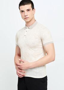 ADZE TOPTAN - Toptan Erkek Sarı Baskılı Polo Yaka T-shirt