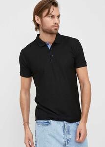 ADZE TOPTAN - Toptan Erkek Siyah Düğmeli Polo Yaka T-shirt