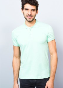 ADZE - Turquoise Men's Basic Polo Shirt
