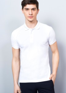 ADZE - White Basic Men's Polo Shirt