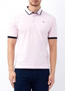 ADZE - Pudra Erkek Desenli Slim Fit Polo Yaka Tişört