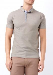 ADZE - Kahverengi Erkek Patlı Basic Polo Yaka Tişört