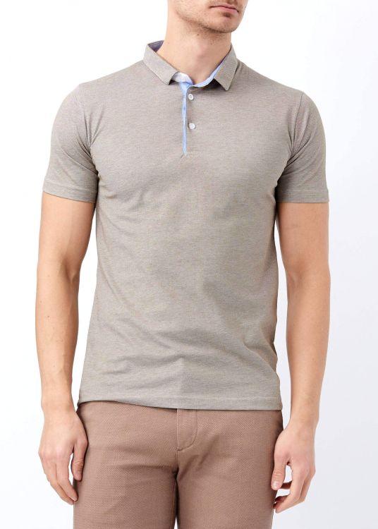 Kahverengi Erkek Patlı Basic Polo Yaka Tişört
