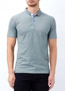 ADZE - Gri Erkek Patlı Basic Polo Yaka Tişört